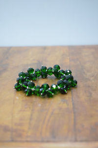 【送料無料】ブレスレット アクセサリ― ブレスレットダークグリーンクリスタルストレッチブレスレットbracelet dark green crystal stretch bracelet