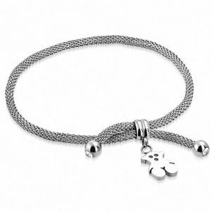 【送料無料】ブレスレット アクセサリ― ブレスレットベアステンレススチールbracelet stainless steel with charm bear plush