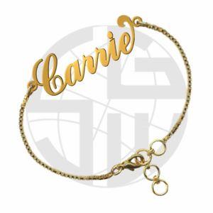 【送料無料】ブレスレット アクセサリ― ハンドメイドパーソナライズブレスレットgold plated handmade personalised name bracelet any name of your choice