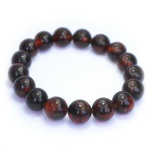 【送料無料】ブレスレット アクセサリ― ラウンドビーズバルトブレスレットround beads baltic amber bracelet 15 gr cherry