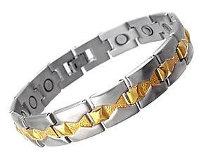 【送料無料】ブレスレット アクセサリ― ステンレススチールブレスレットmagnetic stainless steel bracelet ma4597