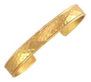 【送料無料】ブレスレット アクセサリ― セルジオカフブレスレットsergio lub brass cuff bracelet hammered brass medium