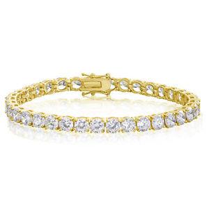 【送料無料】ブレスレット アクセサリ― ラウンドカットmmテニスブレスレットround cut 5mm cz tennis bracelet gold plated