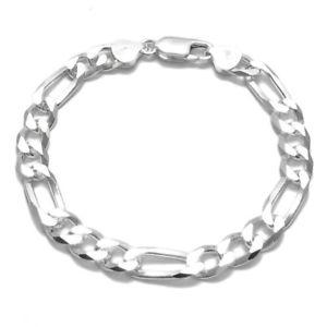 【送料無料】ブレスレット アクセサリ― 925 スターリングフィガロリンクチェーンブレスレット8mm200ゲージ925 sterling silver figaro link chain mens bracelet 8mm 200 gauge