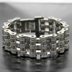 【送料無料】ブレスレット アクセサリ― 26mmmensシルバーオートバイチェーンステンレスブレスレット26mm heavy mens silver polished biker motorcycle chain stainless steel bracelet