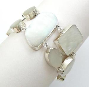 【送料無料】ブレスレット アクセサリ― 925スターリングブレスレットジュエリーse022natural mother of pearl shell 925 sterling silver bracelet women jewelry se022