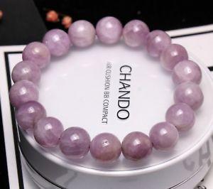 【送料無料】ブレスレット アクセサリ― クリスタルラウンドビーズブレスレット104mm genuine natural purple kunzite crystal round beads bracelet aaa