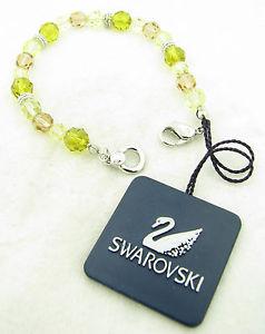 【送料無料】ブレスレット アクセサリ― スワロフスキークリスタルビーズブレスレット swarovski crystal beaded spring colors 7 12 bracelet