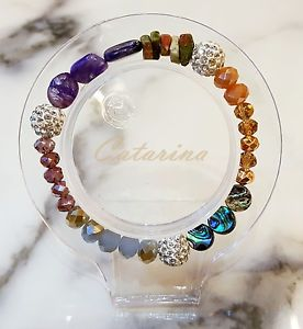 【送料無料】ブレスレット アクセサリ― ハンドメイドブレスレットガラス handmade women jewerly lovely stering bracelet natural gemstone amp; glass 05