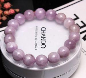 【送料無料】ブレスレット アクセサリ― クリスタルラウンドビーズブレスレット105mm genuine natural purple kunzite crystal round beads bracelet aaa