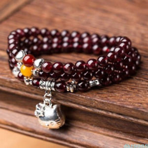 【送料無料】ブレスレット アクセサリ― ガーネットビーズブレスレットnatural garnet crystal 108 buddhism bead bracelet