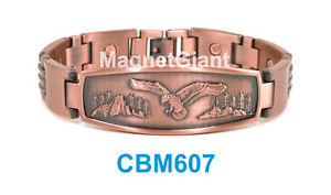 【送料無料】ブレスレット アクセサリ― リンクパワーcbm607eagle men copper link high power magnetic bracelet cbm607 animal