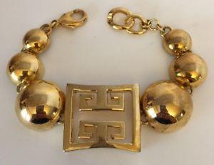 【送料無料】ブレスレット アクセサリ― ビンテージビッグゴールドトーンブレスレットインチvintage big gold tone bracelet 8 inch long
