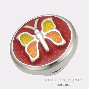 【送料無料】ブレスレット アクセサリ― スターリングシルバーエナメルauthentic kameleon sterling silver enamel red courage jewelpop kjp794