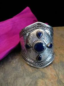 【送料無料】ブレスレット アクセサリ― kuchiカフスステートメントジュエリーストーンkuchi tribal cuff ethnic statement jewelry blue stone