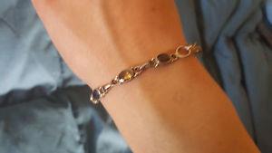 【送料無料】ブレスレット アクセサリ― ブレスレットsmall mulitcolored stone studded silver plated bracelet
