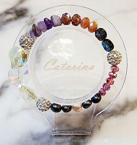 【送料無料】ブレスレット アクセサリ― ハンドメイドブレスレットガラス handmade women jewerly lovely stering bracelet natural gemstone amp; glass 08