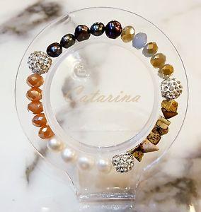 【送料無料】ブレスレット アクセサリ― ハンドメイドブレスレットガラス handmade women jewerly lovely stering bracelet natural gemstone amp; glass 02