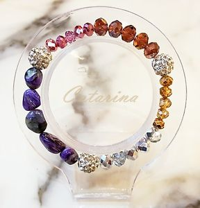 【送料無料】ブレスレット アクセサリ― ハンドメイドブレスレットガラス handmade women jewerly lovely stering bracelet natural gemstone amp; glass 01