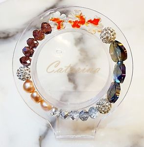 【送料無料】ブレスレット アクセサリ― ハンドメイドブレスレットガラス handmade women jewerly lovely stering bracelet natural gemstone amp; glass 06