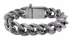 【送料無料】ブレスレット アクセサリ― ステンレスリンクブレスレットアメリカbiker stainless steel fancy link bracelet usa seller