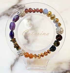 【送料無料】ブレスレット アクセサリ― ハンドメイドブレスレットガラス handmade women jewerly lovely stering bracelet natural gemstone amp; glass 03