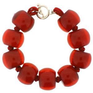 【送料無料】ブレスレット アクセサリ― ボールブレスレットzsiska 9 ball bracelet red