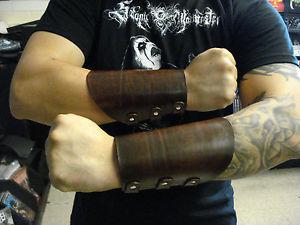 【送料無料】ブレスレット アクセサリ― ヘビーメタルアリスクーパー listingbrown plain leather gauntlet heavy metal mdlg0177 alice cooper