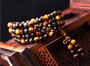 【送料無料】ブレスレット アクセサリ― タイガーアイストレッチビーズブレスレット3rows natural color tigers eye gemstone stretch 108beads bracelet aaa 6mm