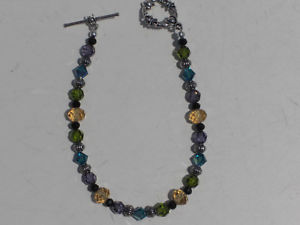 【送料無料】ブレスレット アクセサリ― ビーズブレスレットblue green yellow purple crystals beaded bracelet