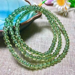 【送料無料】ブレスレット アクセサリ― リチウムブレスレットラウンドビーズ3rows natural green lithium ash bracelet gemstone round beads 454mm aaa