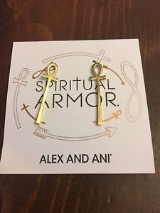【送料無料】ブレスレット アクセサリ― ブランドアレックスイヤリングゴールドbrand alex and ani spiritual armor earrings gold
