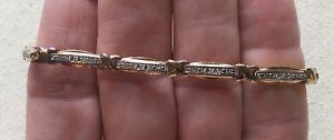 【送料無料】ブレスレット アクセサリ― ビンテージテニスブレスレットリンクイリュージョンクリスタルラブセットvintage tennis bracelet x love links vermeil illusion set crystal 725