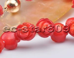 【送料無料】ブレスレット アクセサリ― ハンドメイドバラブレスレットs2184 handmade 8 10mm red coral carve rose bracelet