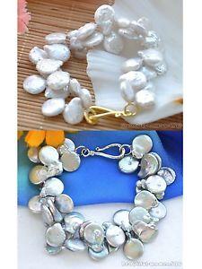【送料無料】ブレスレット アクセサリ― x0366 2row 8 16mmcoin freshwater culturedx0366 2row 8 16mm coin freshwater cultured pearl bracelet