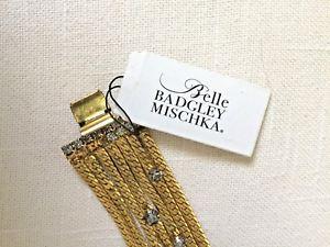 【送料無料】ブレスレット アクセサリ― badgleymischkaラインストーン65ブレスレットbelle badgley mischka gold tone and smoky rhinestone 65 bracelet