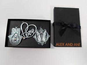 【送料無料】ブレスレット アクセサリ― アレックスホリデーオーナメントセットラファエリアンシルバーauthentic alex and ani holiday ornament set of 3 rafaelian silver