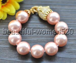 【送料無料】ブレスレット アクセサリ― ピンクサウスシーシェルパールブレスレットインチクーガーz9570 20mm pink south sea shell pearl bracelet 8inch cz cougar
