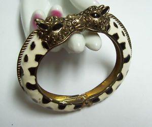 【送料無料】ブレスレット アクセサリ― エナメルダブルキリンヒンジブレスレットwhimsical enamel double giraffe hinged bracelet