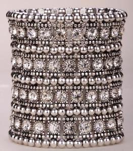 【送料無料】ブレスレット アクセサリ― カフスブレスレットアンティークmultilayer stretch cuff bracelet crystal jewelry row antique