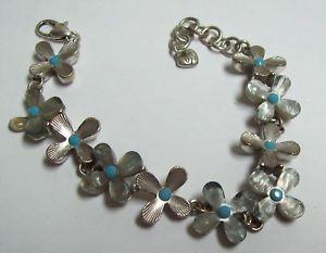 【送料無料】ブレスレット アクセサリ― ブライトンフラワーブレスレットパールターコイズbrighton flower bracelet mother of pearl turquoise amp; silvertone