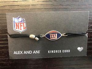 【送料無料】ブレスレット アクセサリ― アレックスキンドレッドコードニューヨークジャイアンツbnwt authentic alex and ani kindred cord nfl york giants as17kc37s