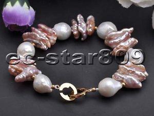 【送料無料】ブレスレット アクセサリ― ピンクバロックラベンダーホワイトエジソンパールブレスレットp6036 8 pink baroque lavender biea white edison keshi pearl bracelet