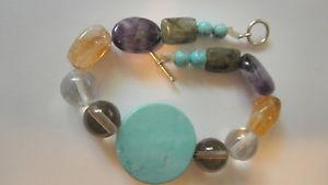 【送料無料】ブレスレット アクセサリ― ビードターコイズブレスレットカスタムチャクラブレスレット15 gemstone bead turquoise bracelet,custom designed 4u chakra bracelet