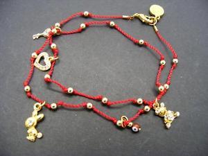 【送料無料】ブレスレット アクセサリ― ドルスワロフスキーダブルラップブレスレットビーズコード38 blee inara swarovski charm double wrap bracelet goldtone beaded red cord