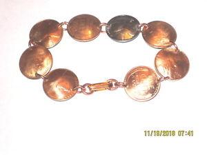 【送料無料】ブレスレット アクセサリ― アンティークムギペニーブレスレットドームantique wheat penny braceletcoppernicely domed