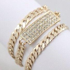 【送料無料】ブレスレット アクセサリ― ゴールドブレスレットtrendy gold bracelet