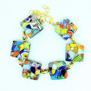 【送料無料】ブレスレット アクセサリ― ベニスムラノガラスブレスレットbeautiful multicoloured murano glass bracelet from venice