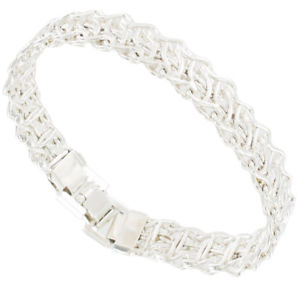 【送料無料】ブレスレット アクセサリ― シンシルバートーンアメリカワイヤリンクブレスレットupcycled thin silver tone wire link bracelet made in usa