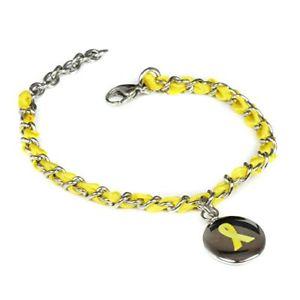 【送料無料】ブレスレット アクセサリ― カスタムブレスレットスチールmyiddr custom engraved yellow awareness bracelet silk woven 316l steel